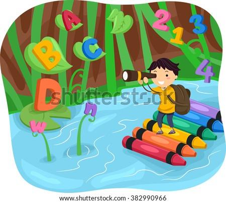 stickman illustration of a kid
