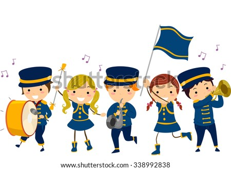 Kids Marching clipart, cliparts of Kids Marching free download (wmf, eps,  emf, svg, png, gif) formats