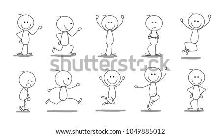 stickman stick figure sketch cartoon