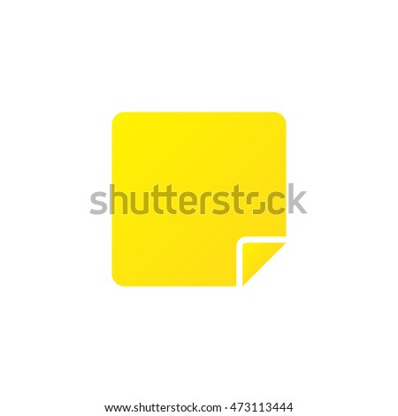 Sticky note icon vector, solid logo illustration, colorful pictogram isolated on white