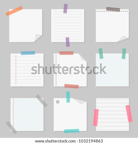 sticky note paper set slips of