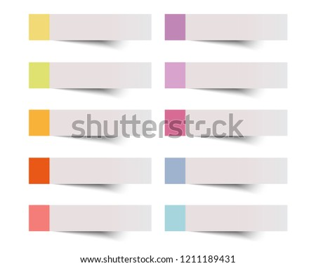 Sticky note vector illustration.