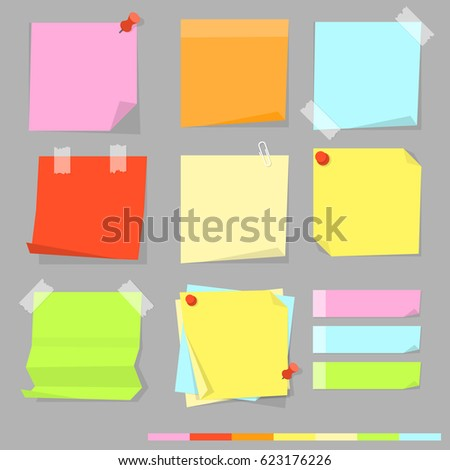 sticky note vector isolated background