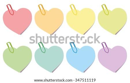 sticky notes hearts sticky...