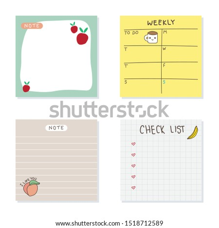 sticky notes vector design