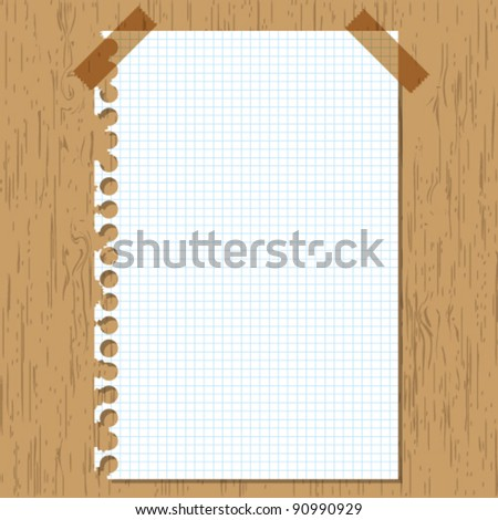 Sticky paper graph on wooden board.