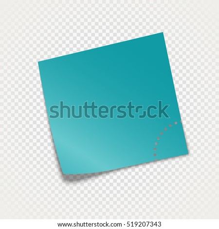 Sticky paper template isolated on transparent background