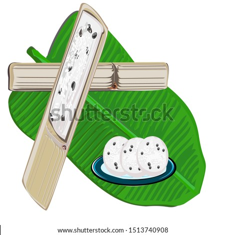 Sticky rice in bamboo tubes (Khao Lam, Thai name) is a popular food made from sticky rice mixed with coconut milk and nuts. Cereal. Appetizer in Thailand. Vector illustration