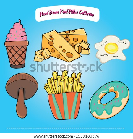 Stiker Collection Of Fast Food Collections