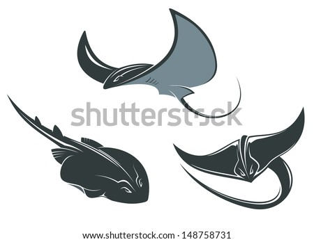stingray fish mascots set isolated on white background or idea of logo jpeg version also free corvette logo vector - Corvette Stingray Logo Vector
