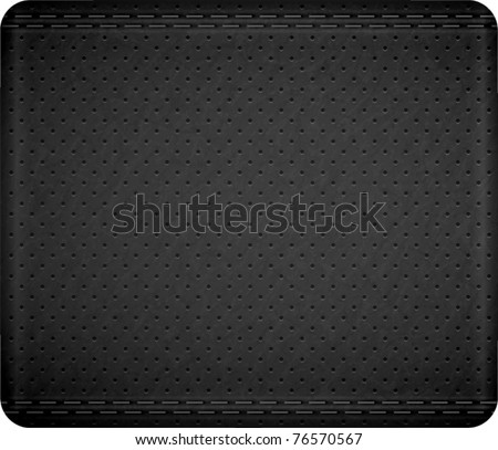 Stitch leather texture. Vector - stock vector