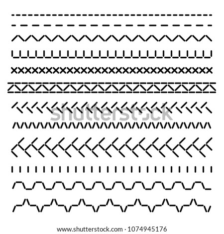 stock-vector-stitched-seamless-borders-sewing-machine-seams-for-fabric-structure-vector-set-isolated
