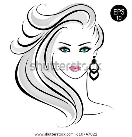 stock blonde woman beauty girl