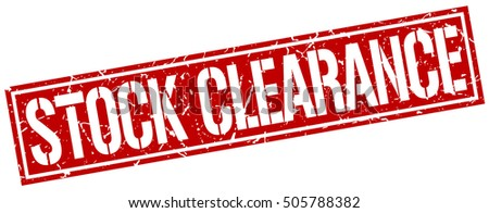 stock clearance. grunge vintage stock clearance square stamp. stock clearance stamp.