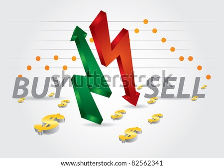 Stock exchange charts with abstract background and diagram