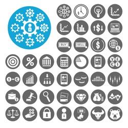 Stock Exchange icons set. Illustration EPS10