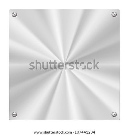 Stock illustration of a Metal Plate isolated on white