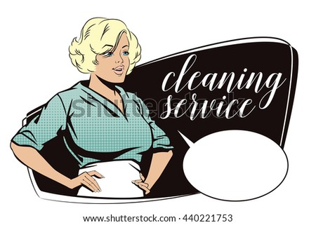 Free Retro Cleaning Service Advertisement Vector - Download Free ...