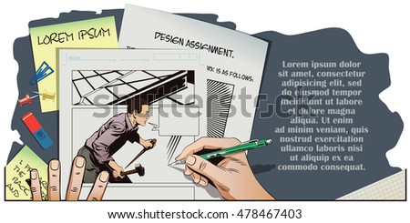 stock illustration people in