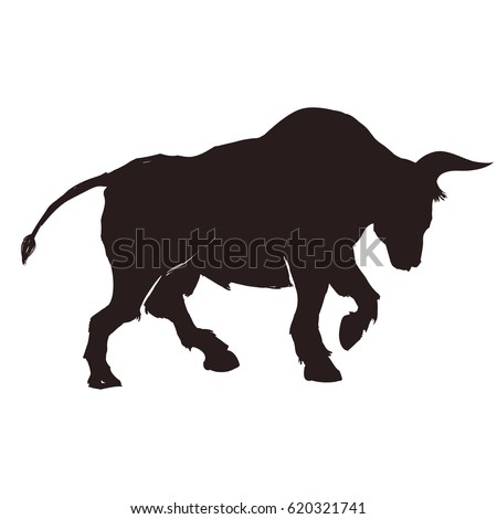 Stock Market Bull Symbol Ez Canvas
