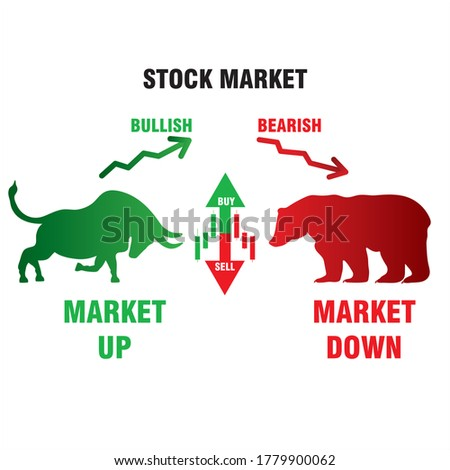 stock market bullish bearish market up and down trading Foto stock ©