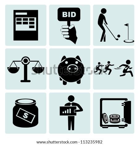 stock market, business, financial business set