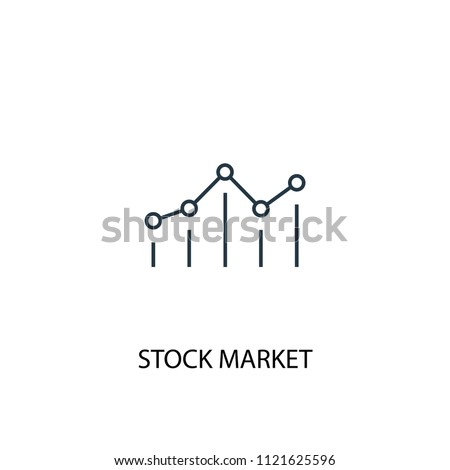 Stock market concept line icon. Simple element illustration. Stock market concept outline symbol design from startup set. Can be used for web and mobile UI/UX