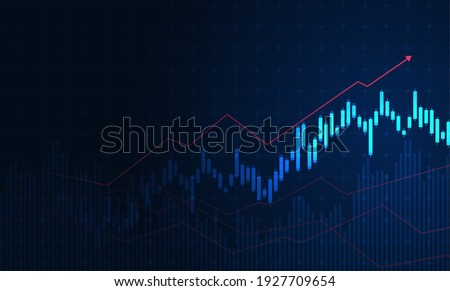 Stock market investment trading graph in graphic concept suitable for financial investment or Economic trends business idea. Vector illustration design.