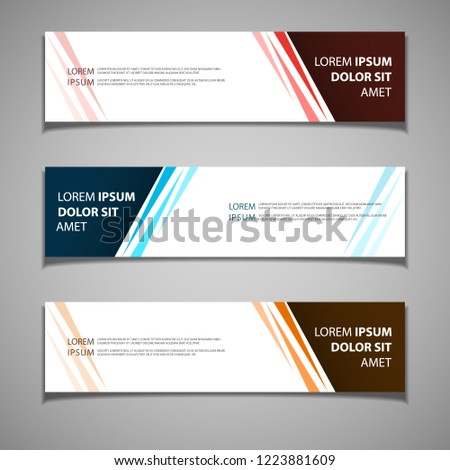 stock vector banner label background modern template design web #1223881609