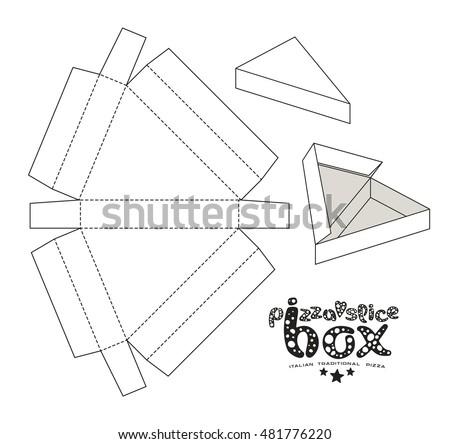 Коробка для пиццы своими руками развертка