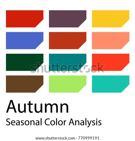 stock vector color guide....