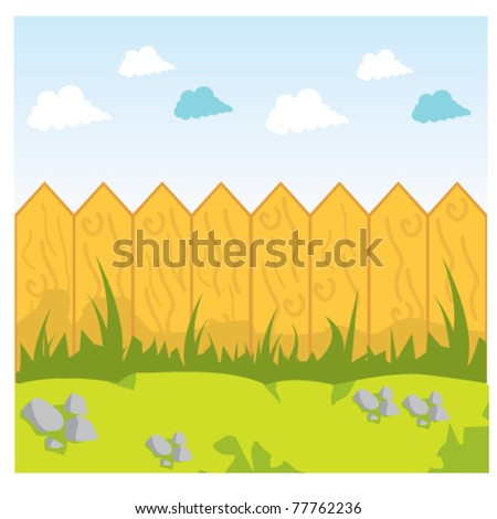stock vector fence wood background