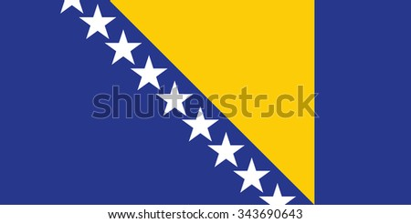 stock vector flag of bosnia and