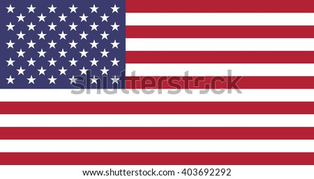 Stock Vector Flag of The United States of America - Proper Dimensions