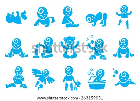 stock vector illustration  baby