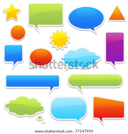 Stock Vector Illustration: pop-up bubble with shadow on white background many styles in vector format.