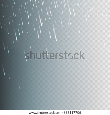 Stock vector illustration rain, rainfall Isolated on a transparent background. Rainstorm, heavy rain, rainfall, drizzle, rainy, rainforest, monsoon, water drops. EPS 10