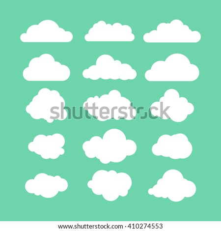 Shutterstock stock-vector-illustration-set-of-flat-clouds-icon