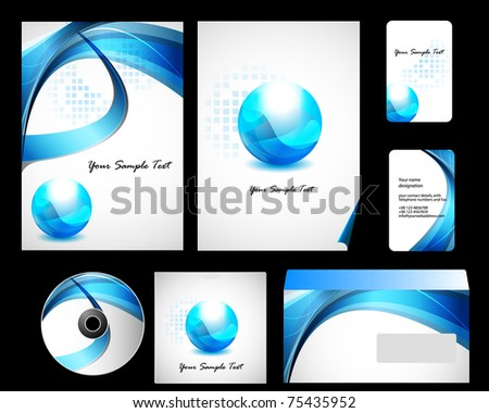 Stock Vector Illustration: Vector stationery set eps10 for your design