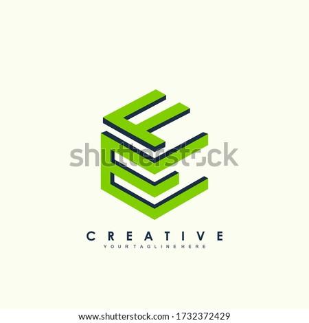 stock vector initial letter f e design logo Photo stock ©