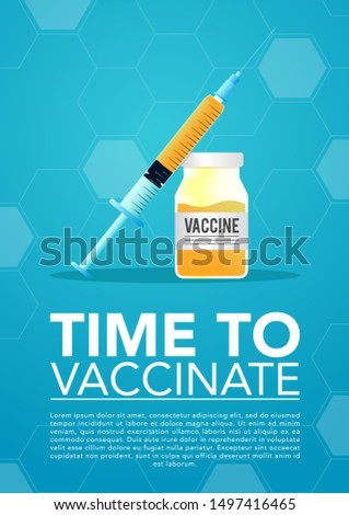 stock vector injector and vaccine. medical and health care concept. vector illustration background.