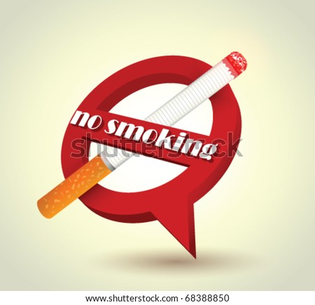 Stock vector no smoking sign
