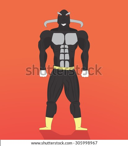 stock vector of a angry