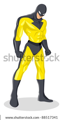 stock vector of a superhero in
