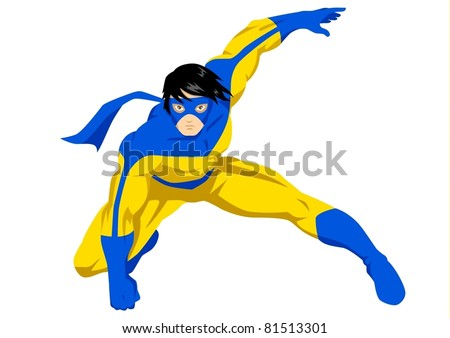 stock vector of a superhero