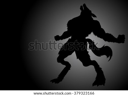 stock vector of a werewolf
