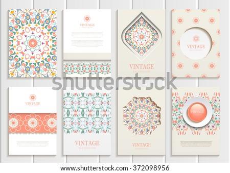 stock vector set of brochures
