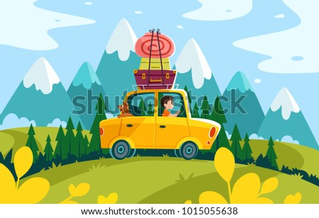 stock vector travelling