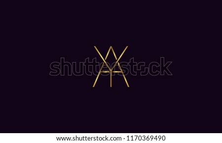 stock vector unique modern creative elegant geometric fashion brands black and gold color a, y, a y, y a initial based logo design