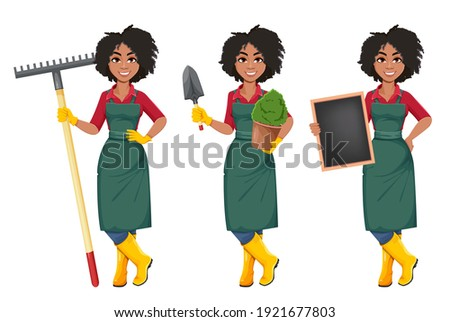 stock vector young african